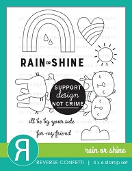 Reverse Confetti - Clear Stamps - Rain or Shine