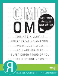 Reverse Confetti - Clear Stamps - OMG