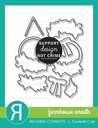 Reverse Confetti - Dies - Farmhouse Wreath Confetti Cuts