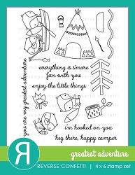 Reverse Confetti - Clear Stamps - Greatest Adventure