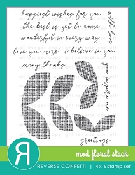 Reverse Confetti - Clear Stamps - Mod Floral Stack