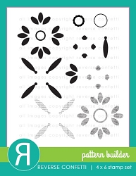 Reverse Confetti - Clear Stamps - Pattern Builder