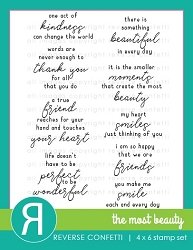 Reverse Confetti - Clear Stamps - The Most Beauty