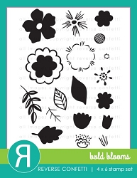 Reverse Confetti - Clear Stamps - Bold Blooms