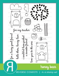 Reverse Confetti - Clear Stamps - Honey Bear