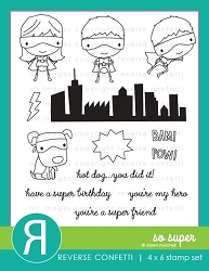 Reverse Confetti - Clear Stamps - So Super