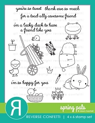Reverse Confetti - Clear Stamps - Spring Pals