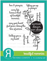 Reverse Confetti - Clear Stamps - Beautiful Memories