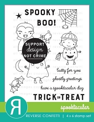 Reverse Confetti - Clear Stamps - Spooktacular