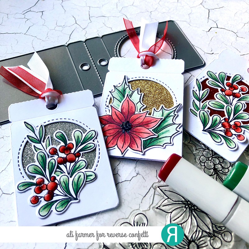 Reverse Confetti Designs - Fall and Christmas stamps