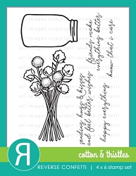 Reverse Confetti - Clear Stamps - Cotton & Thistles