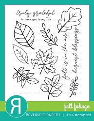 Reverse Confetti - Clear Stamps - Fall Foliage
