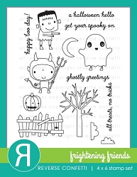 Reverse Confetti - Clear Stamps - Frightening Friends