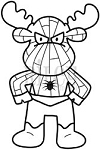 Riley and Company Cling Mounted Rubber Stamp - Spider Moose