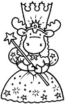 Riley and Company Cling Mounted Rubber Stamp - Good Witch Sophie