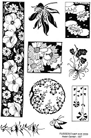 Rubber Stamp Avenue - clear stamp - Asian Garden