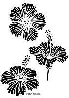 Designs by Ryn - Stencil - Hibiscus (6