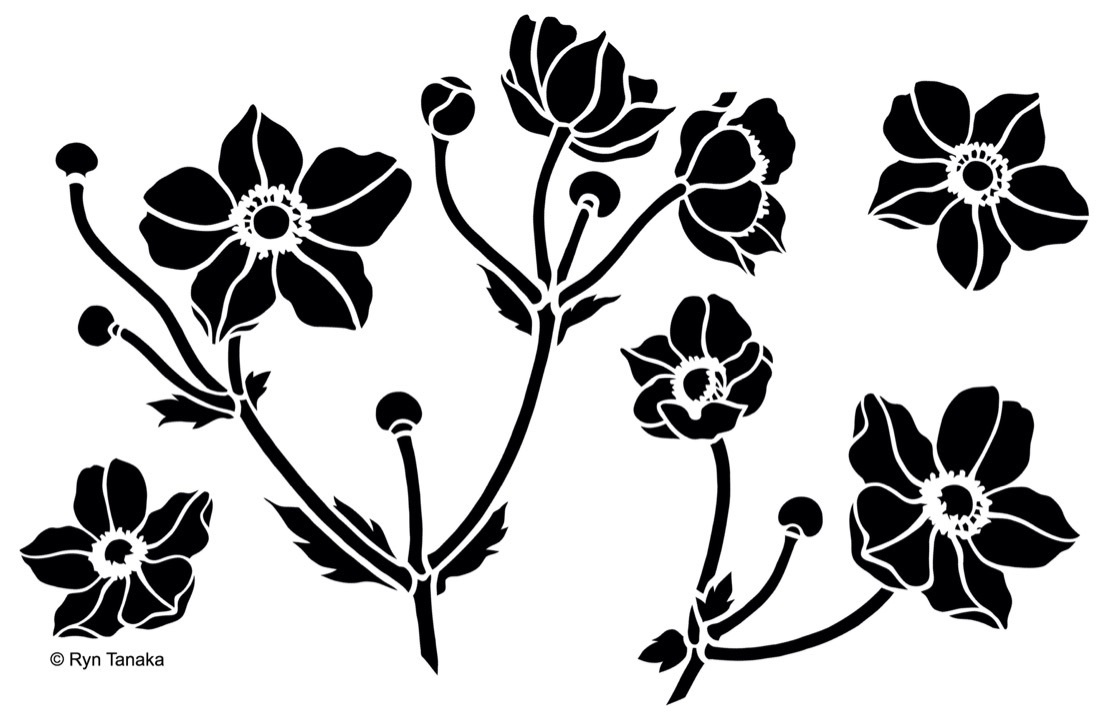 Designs By Ryn Stencil Japanese Anemone 6 Quot X9 Quot