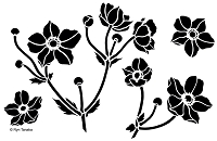 Designs by Ryn - Stencil - Japanese Anemone (6