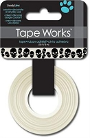 SandyLion - Tape Works Washi Tape - Skulls, Black & White