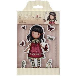 Do Crafts/Santoro - Gorjuss Girls - Cling Mounted Rubber Stamp - Time To Fly