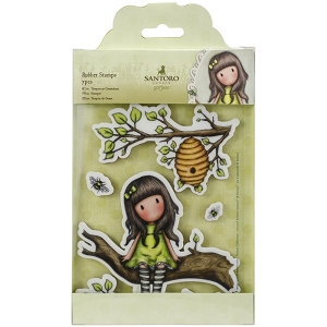 Do Crafts/Santoro - Gorjuss Girls - Cling Mounted Rubber Stamp - The Little Leaf :)