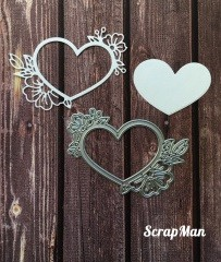 ScrapMan Dies - Heart with Flowers