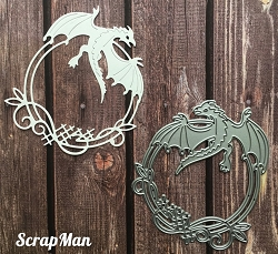 ScrapMan Dies - Frame with Dragon