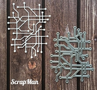 ScrapMan Dies - Collage Chip