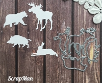 ScrapMan Dies - Set of Forest Animals