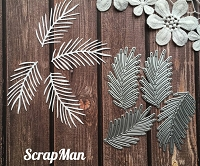 ScrapMan Dies - Set of Pine Branches
