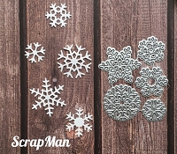 ScrapMan Dies - Set of Snowflakes