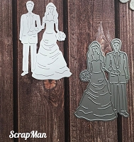 ScrapMan Dies - Bride and Groom
