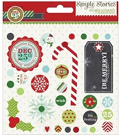 Simple Stories - December Documented Collection - Decorative Brads