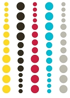 Simple Stories - DIY Enamel Dots - Teal, Red & Yellow