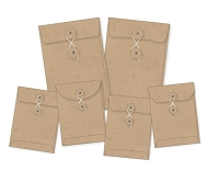 Simple Stories - DIY Foundations Envelopes - Kraft - 6/Pkg - (2) 4