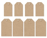 Simple Stories - DIY Foundations Tags - Kraft (8 Pieces)