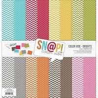 Simple Stories - Sn@p! Color Vibe Collection - 12x12 Paper Kit - Color Vibe Brights