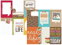 Simple Stories - Sn@p! Life Collection - 12x12 Double Sided Cardstock - 4x6 Vertical Journaling Card Elements