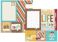 Simple Stories - Sn@p! Life Collection - 12x12 Double Sided Cardstock - 4x4 Quote & 6x8 Photo Mat Elements