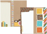 Simple Stories - Sn@p! Life Collection - 12x12 Double Sided Cardstock - 6x12 Page Elements