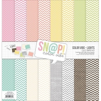 Simple Stories - Sn@p! Color Vibe Collection - 12x12 Paper Kit - Color Vibe Lights