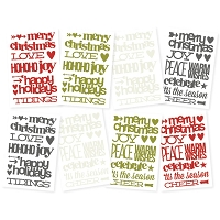 Simple Stores - DIY Christmas Stickers - Sentiments