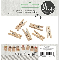 Simple Stores - DIY Mini Clothespins