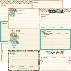 Simple Stories - Apron Strings collection - Recipe Cards 12x12 cardstock