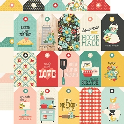 Simple Stories - Apron Strings collection - Tags 12x12 cardstock