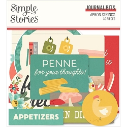 Simple Stories - Apron Strings collection Journal Bits & Pieces Die-Cuts