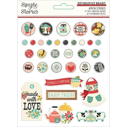 Simple Stories - Apron Strings collection Decorative Brads