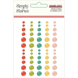 Simple Stories - Apron Strings collection Enamel Dots