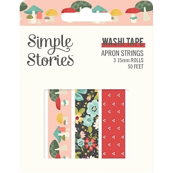 Simple Stories - Apron Strings collection Washi Tapes (3 rolls)
